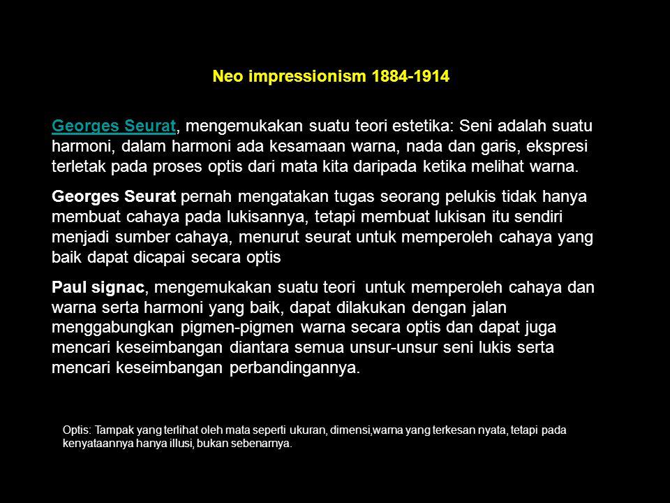 Neo impressionism 1884-1914