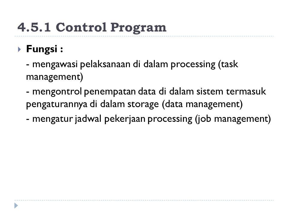 4.5.1 Control Program Fungsi :