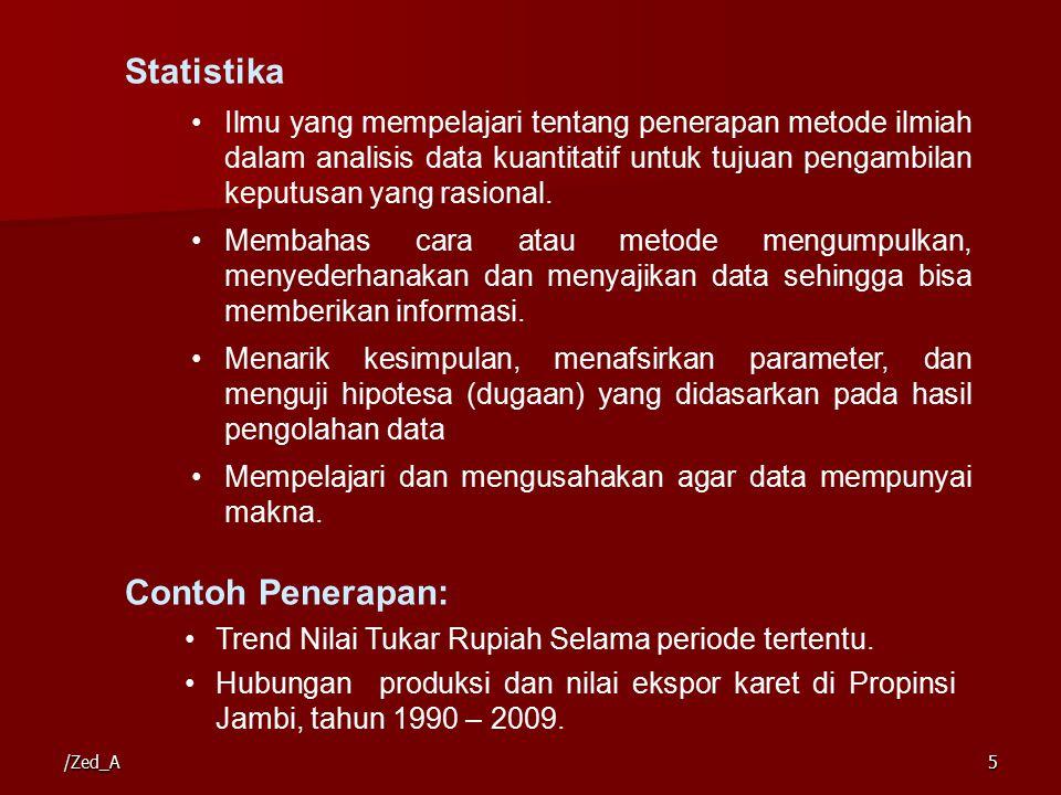 Statistika Contoh Penerapan: