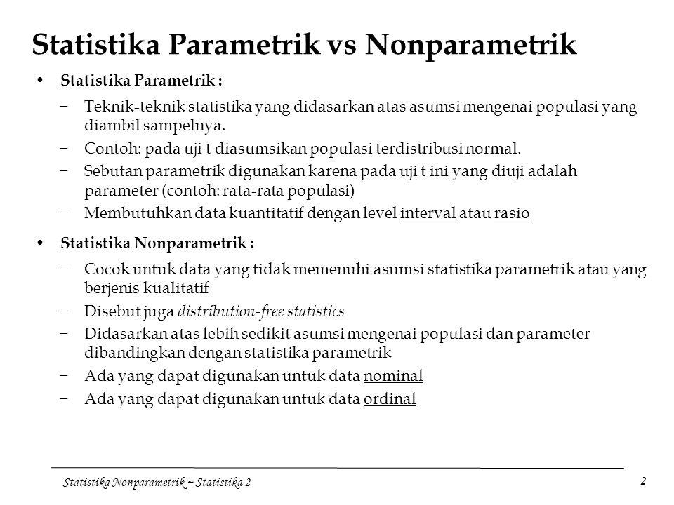 Statistika Parametrik vs Nonparametrik