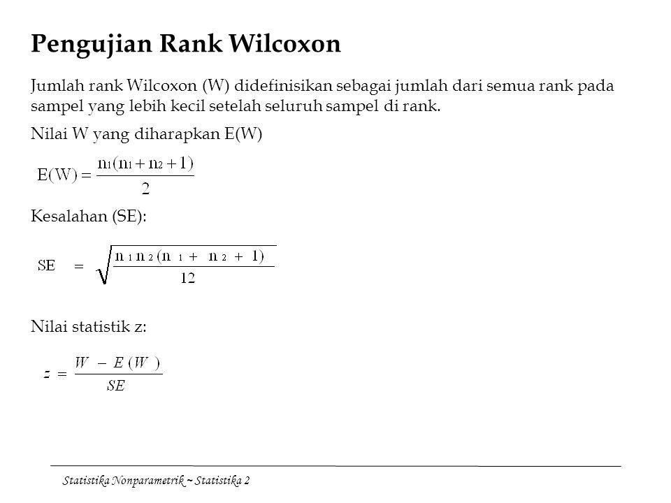 Pengujian Rank Wilcoxon