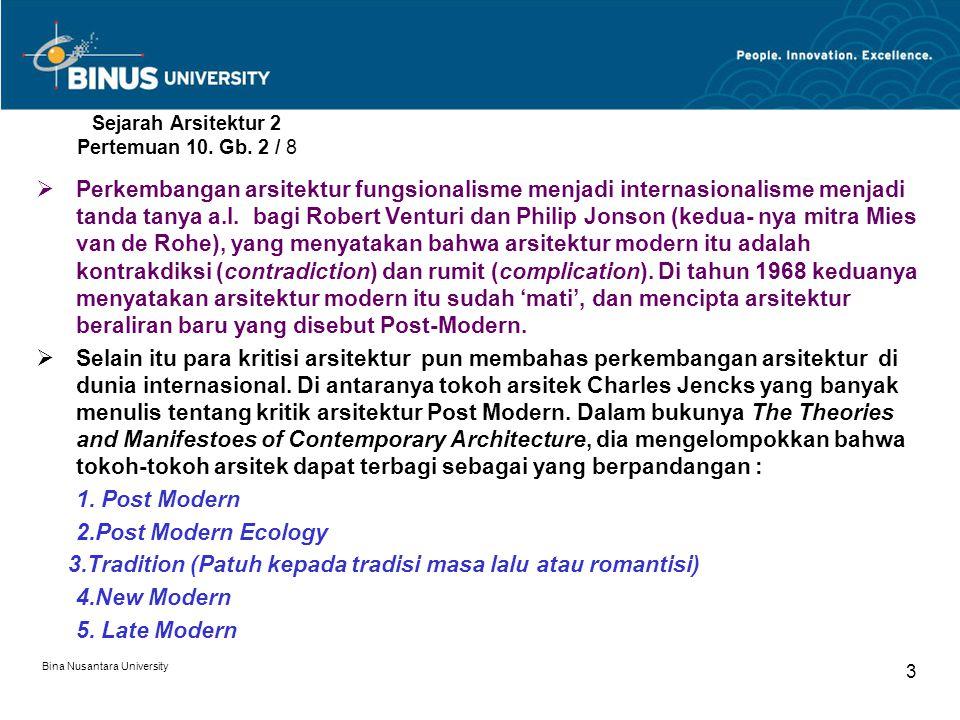 Sejarah Arsitektur 2 Pertemuan 10. Gb. 2 / 8