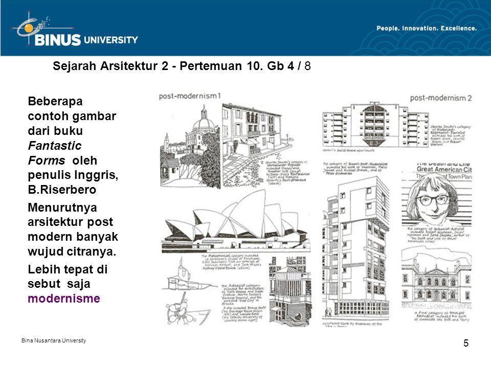 Sejarah Arsitektur 2 - Pertemuan 10. Gb 4 / 8