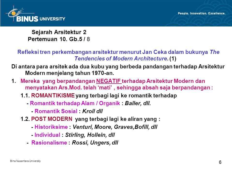 Sejarah Arsitektur 2 Pertemuan 10. Gb.5 / 8