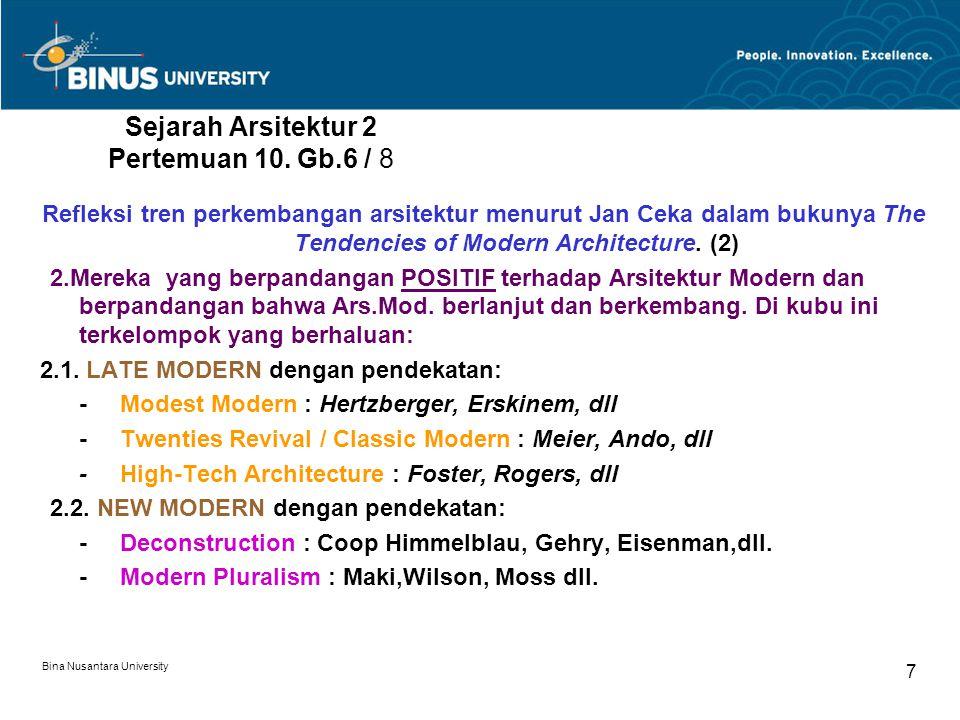 Sejarah Arsitektur 2 Pertemuan 10. Gb.6 / 8