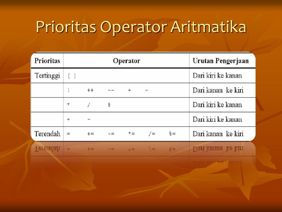 Prioritas Operator Aritmatika