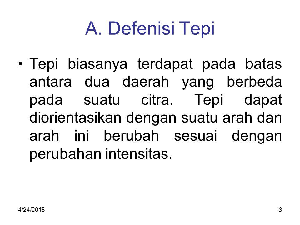 A. Defenisi Tepi