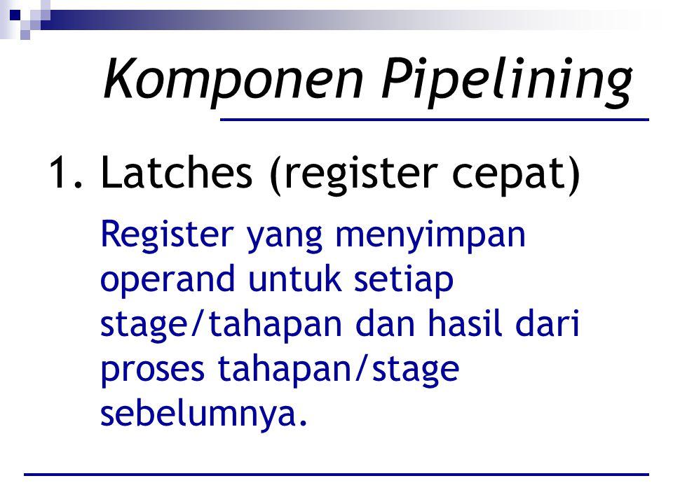 Komponen Pipelining Latches (register cepat)