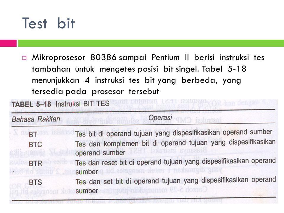 Test bit
