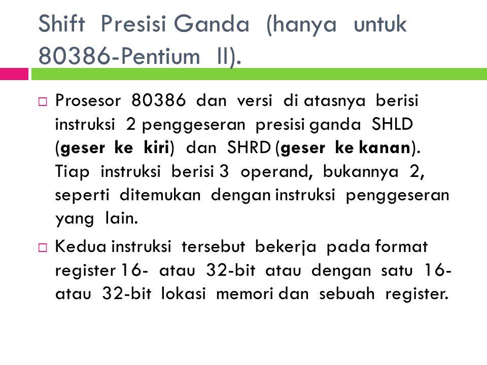 Shift Presisi Ganda (hanya untuk 80386-Pentium II).