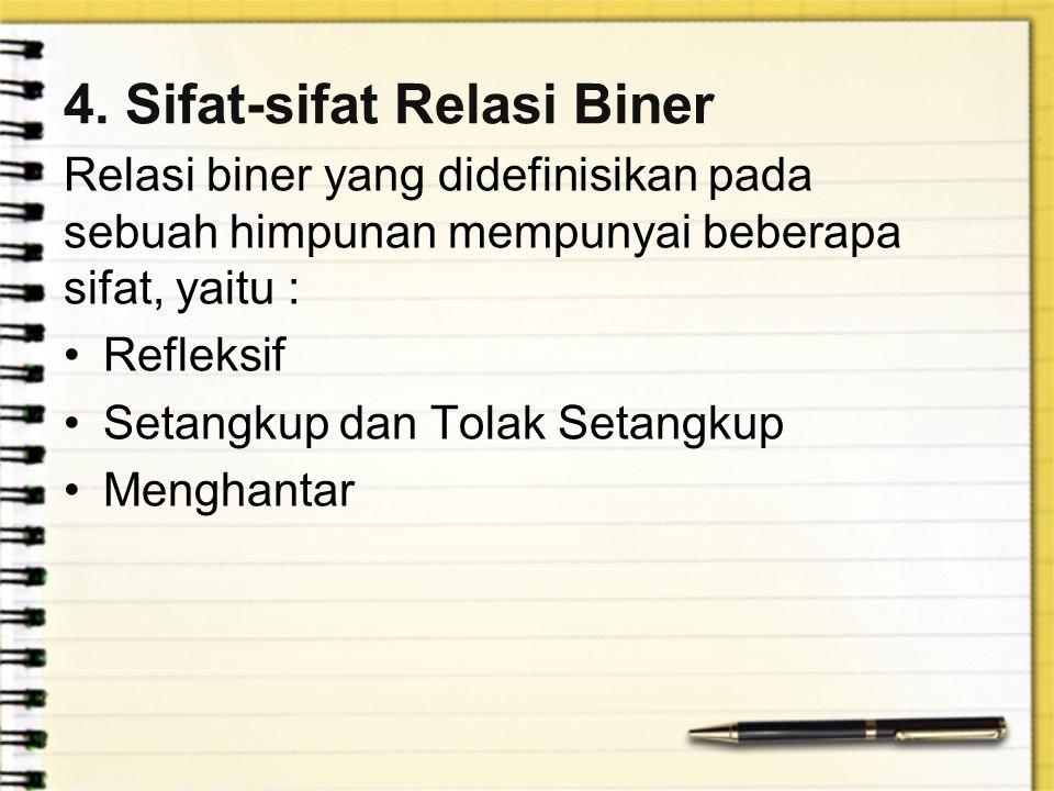 4. Sifat-sifat Relasi Biner