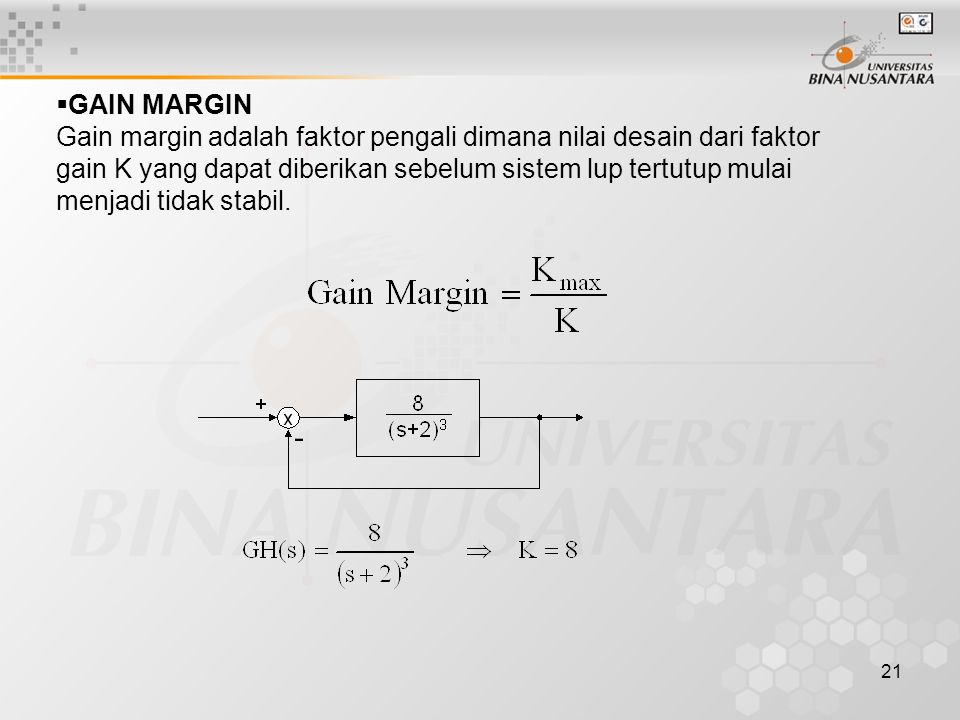 GAIN MARGIN