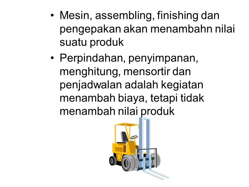 Mesin, assembling, finishing dan pengepakan akan menambahn nilai suatu produk
