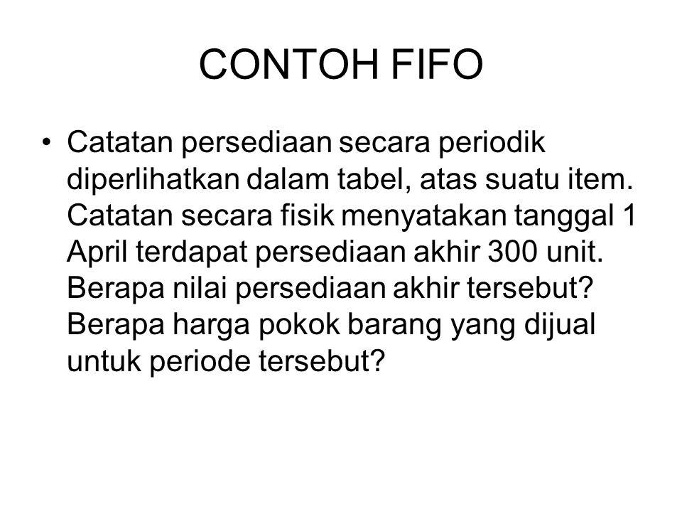 CONTOH FIFO