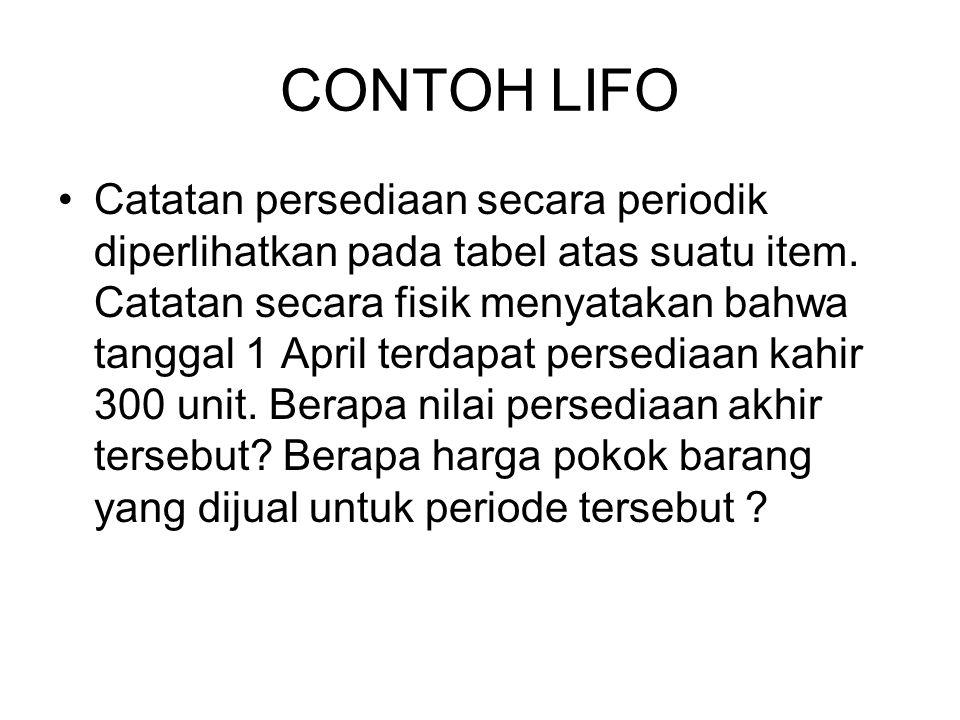 CONTOH LIFO
