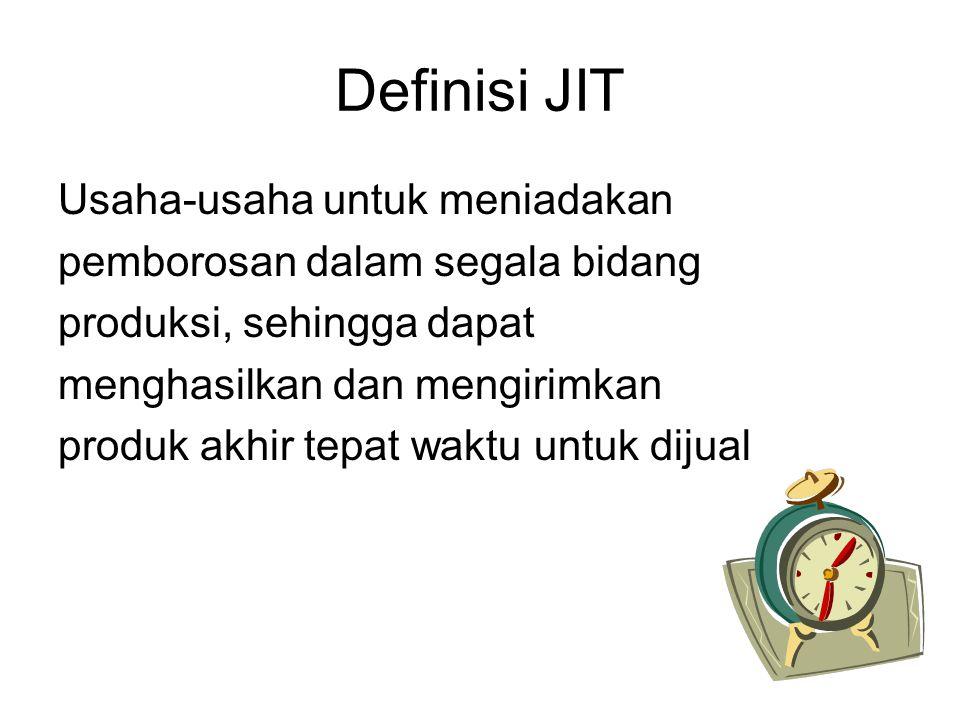 Definisi JIT Usaha-usaha untuk meniadakan