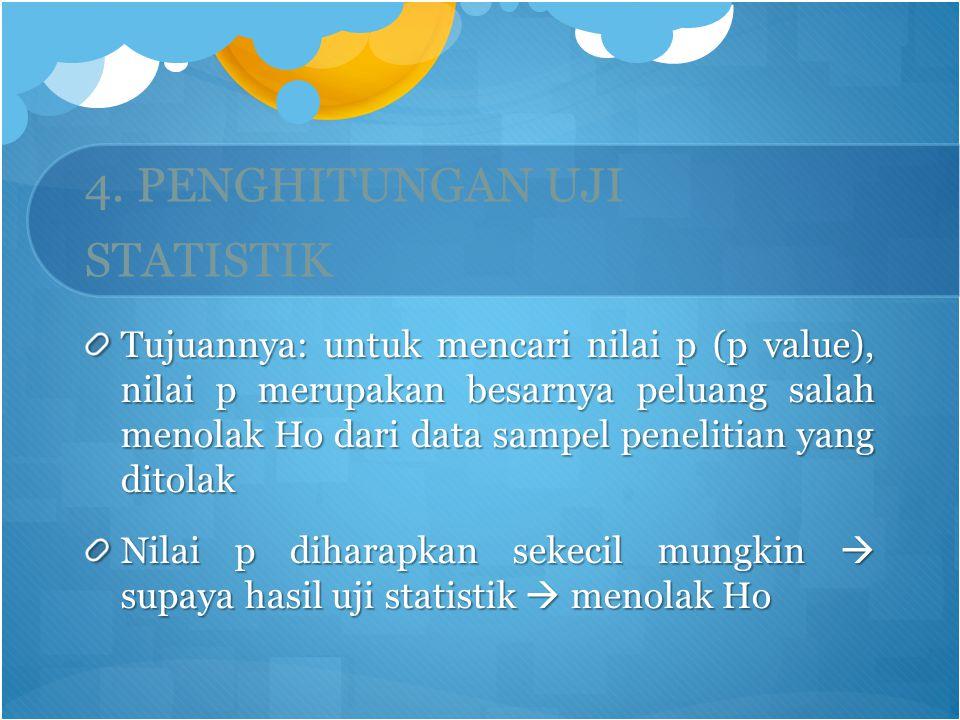 4. PENGHITUNGAN UJI STATISTIK