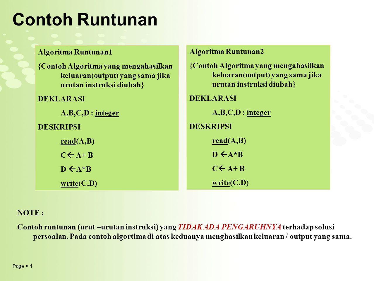 Contoh Runtunan Algoritma Runtunan1 Algoritma Runtunan2