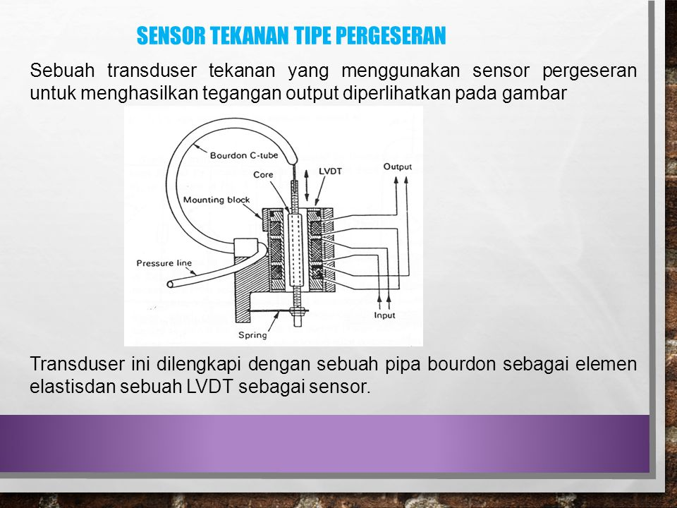 Sensor tekanan tipe pergeseran