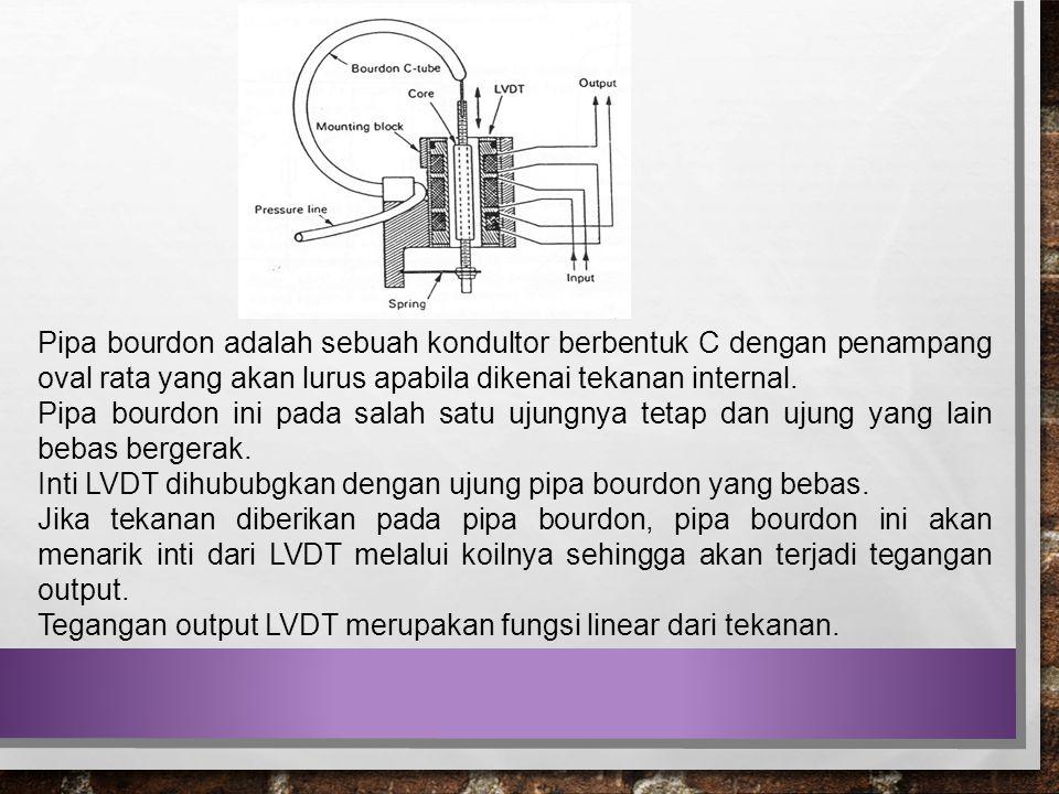 Pipa bourdon adalah sebuah kondultor berbentuk C dengan penampang oval rata yang akan lurus apabila dikenai tekanan internal.