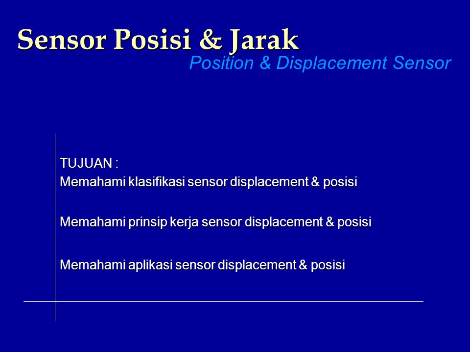 Position & Displacement Sensor