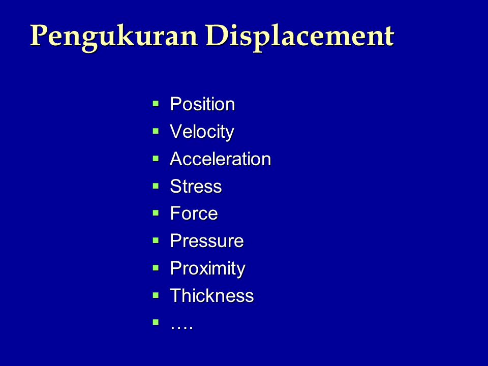 Pengukuran Displacement