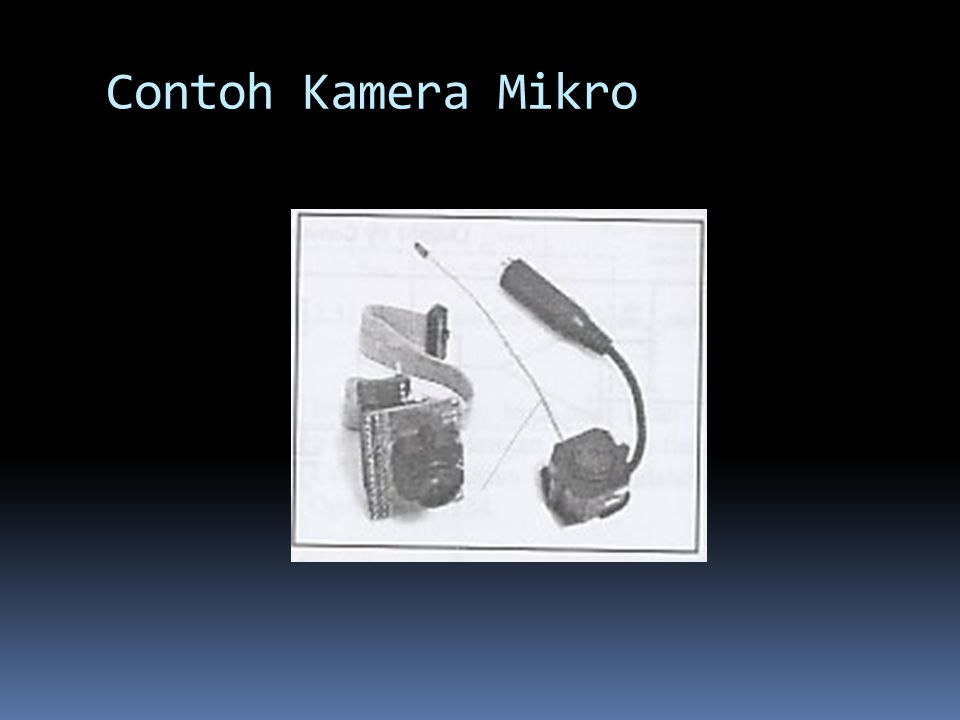 Contoh Kamera Mikro