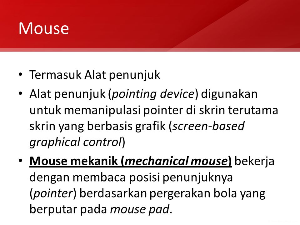 Mouse Termasuk Alat penunjuk