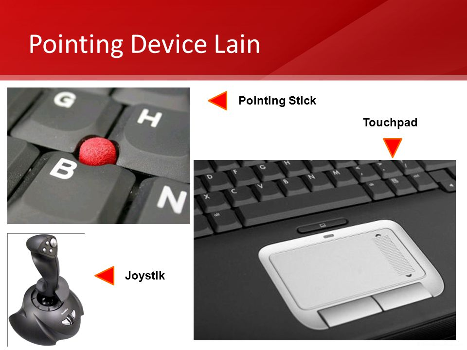 Pointing Device Lain Pointing Stick Touchpad Joystik