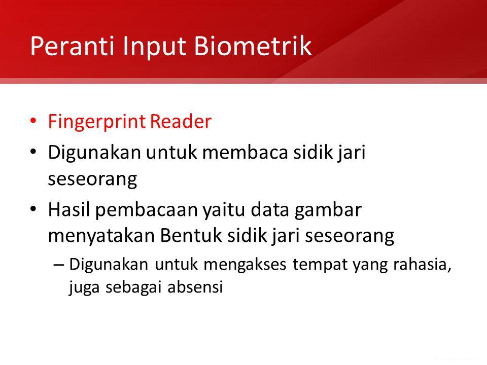 Peranti Input Biometrik