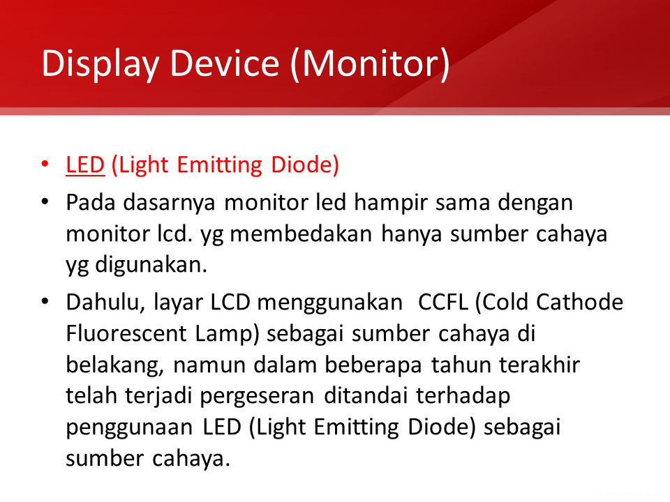 Display Device (Monitor)
