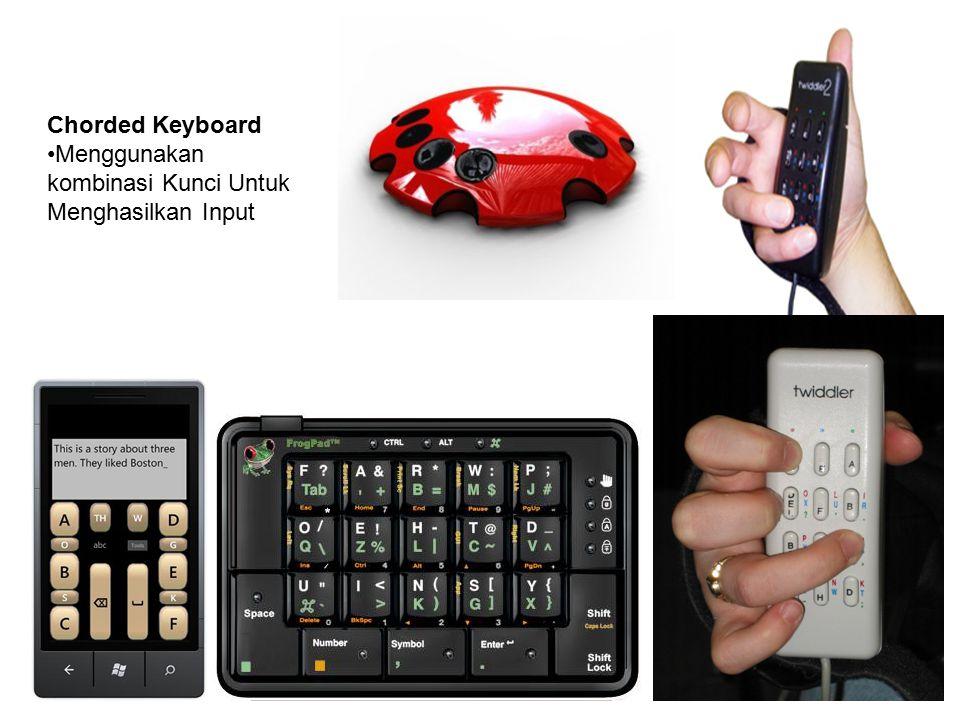 Chorded Keyboard Menggunakan kombinasi Kunci Untuk Menghasilkan Input
