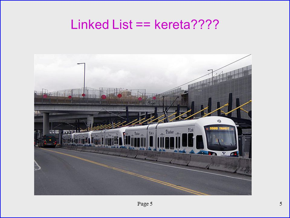 Linked List == kereta Page 5