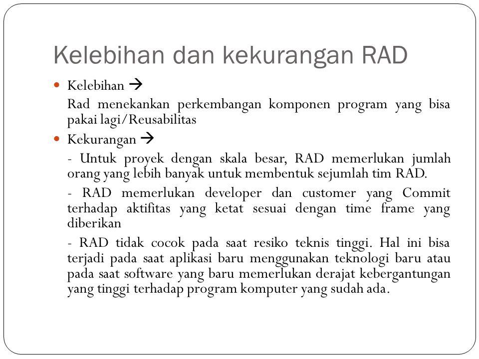 Kelebihan dan kekurangan RAD