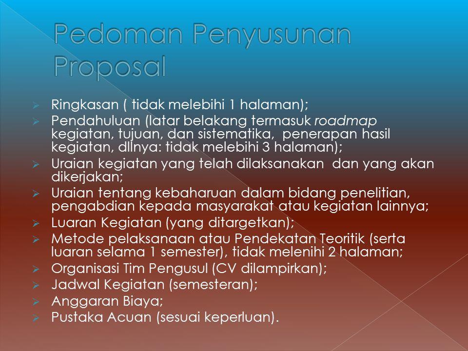 Pedoman Penyusunan Proposal
