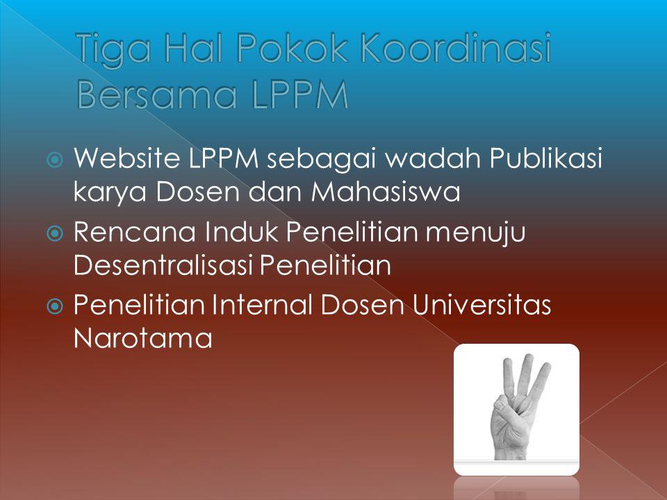 Tiga Hal Pokok Koordinasi Bersama LPPM