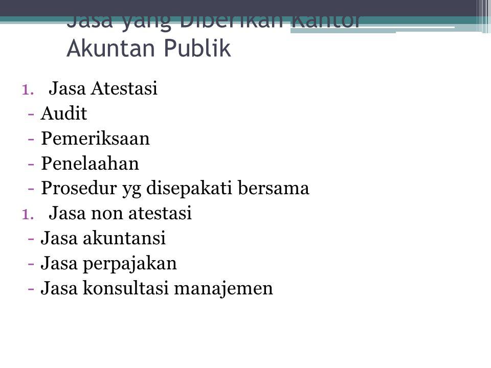 Jasa yang Diberikan Kantor Akuntan Publik