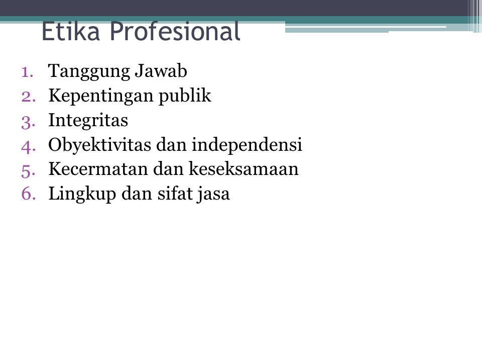Etika Profesional Tanggung Jawab Kepentingan publik Integritas