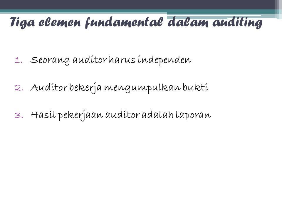 Tiga elemen fundamental dalam auditing