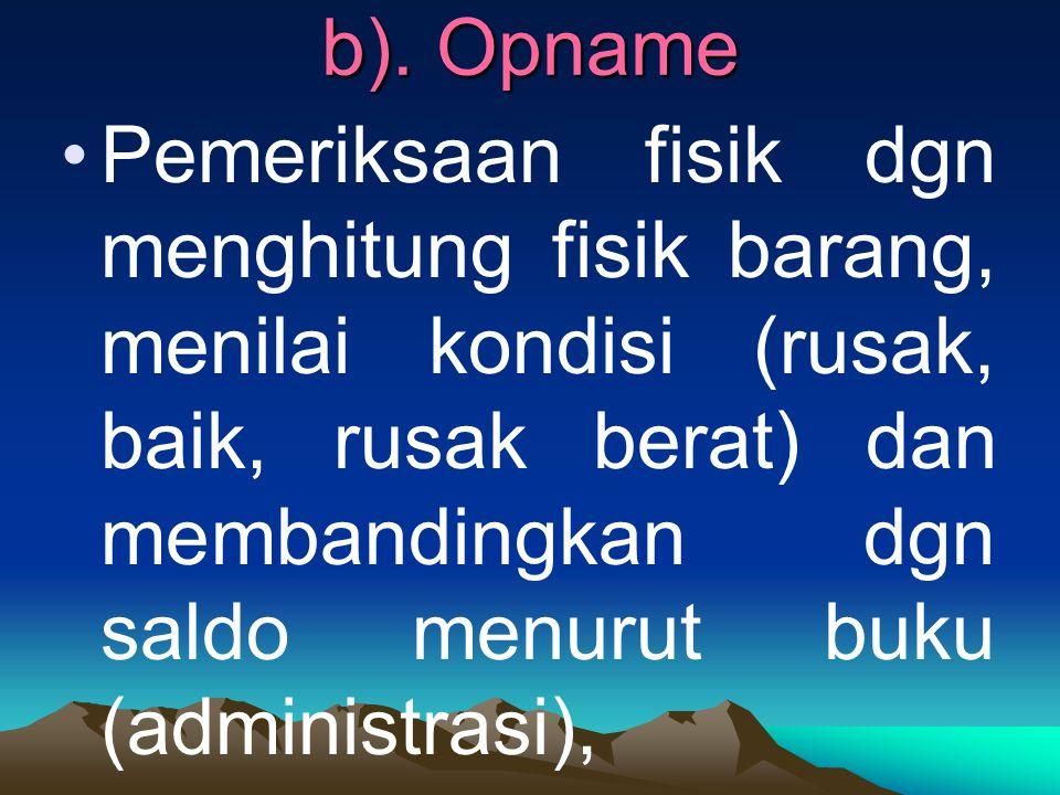 b). Opname