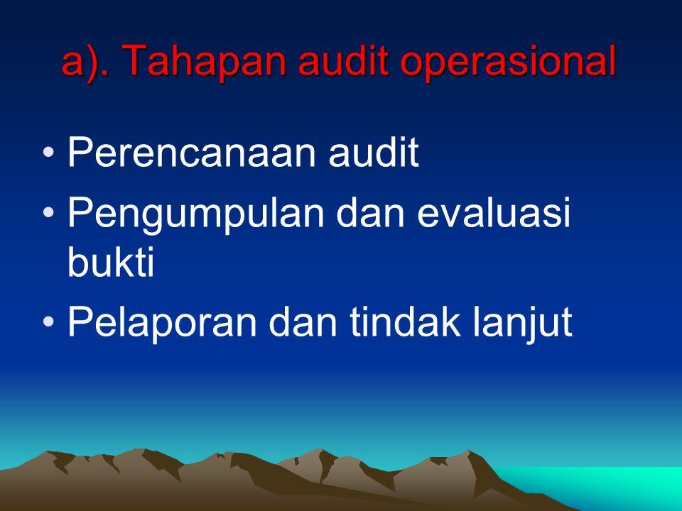 a). Tahapan audit operasional