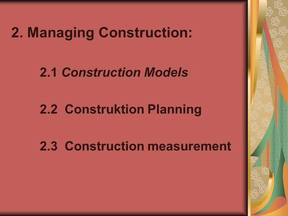 2. Managing Construction: