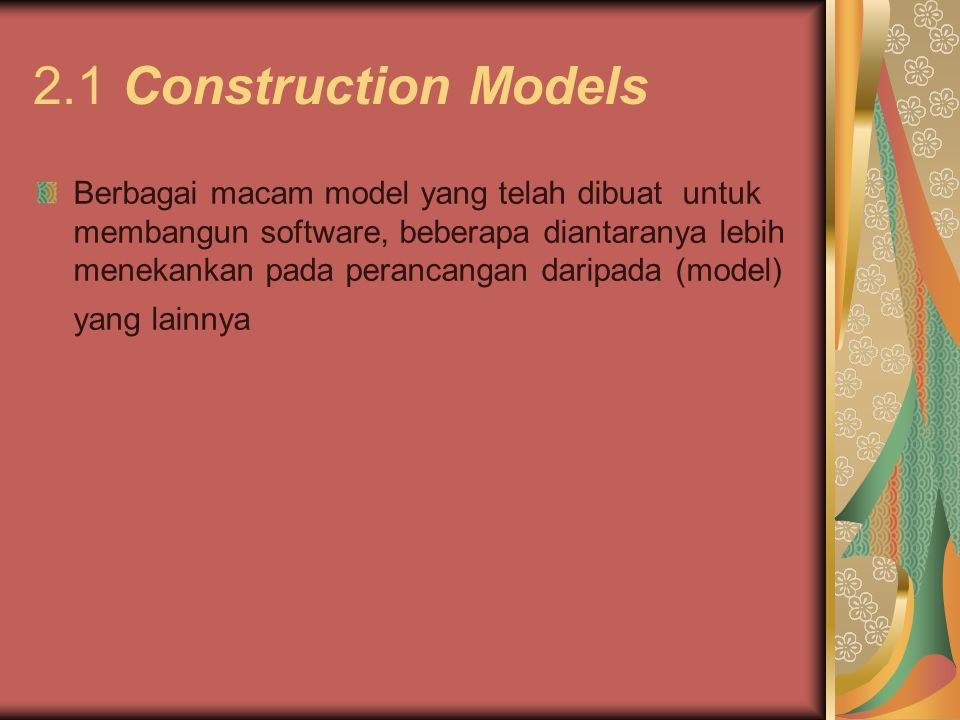 2.1 Construction Models