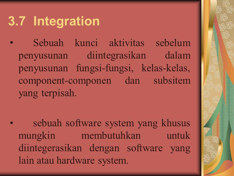3.7 Integration