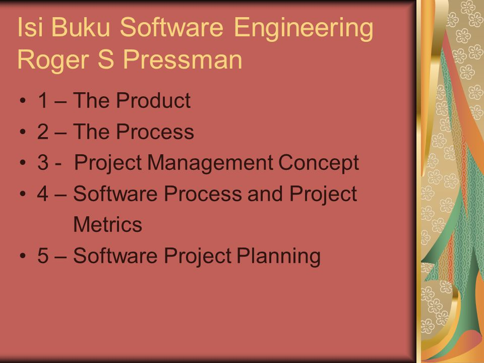 Isi Buku Software Engineering Roger S Pressman