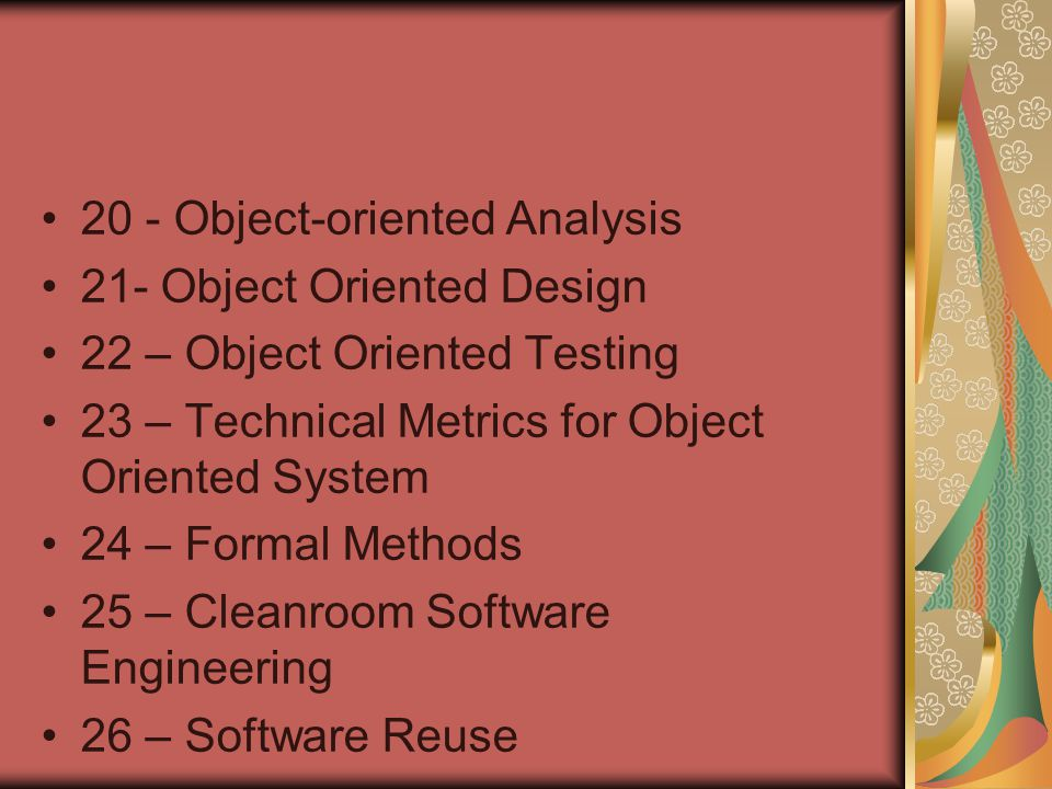 20 - Object-oriented Analysis