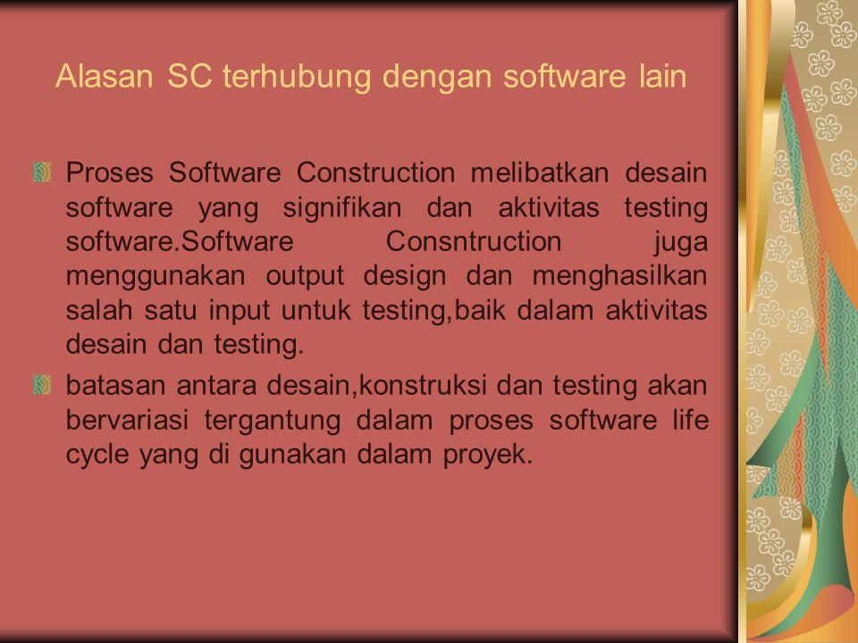 Alasan SC terhubung dengan software lain