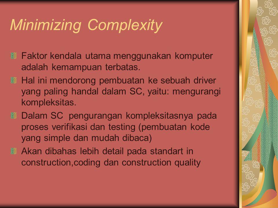 Minimizing Complexity