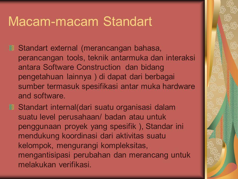 Macam-macam Standart