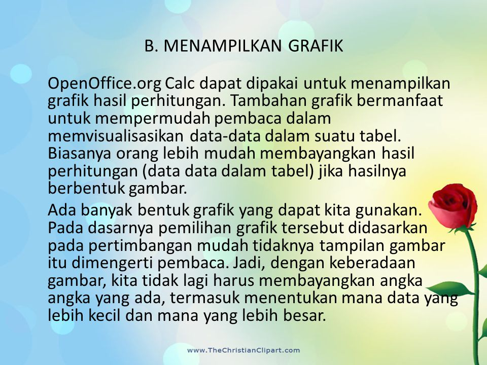 B. MENAMPILKAN GRAFIK